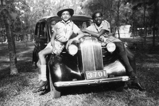 1949 : scout à Maurice, 2 ans avant son départ pour la France.
