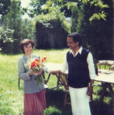 1988 : avec Martine chez leur ami Robert Namias en Touraine.